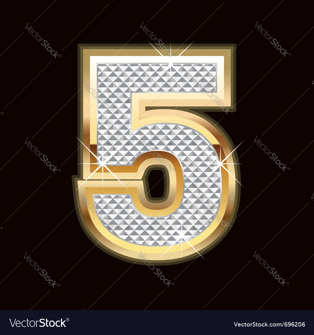 Five bling bling vector