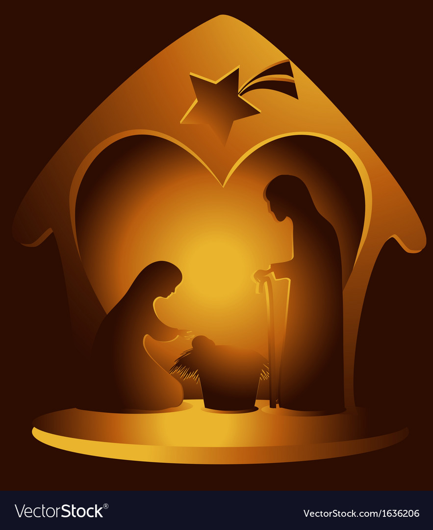 Nativity scene vector | Price: 1 Credit (USD $1)