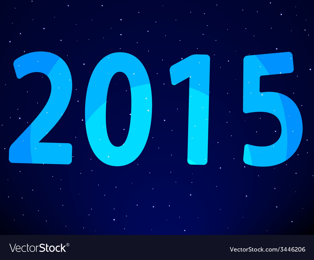 New year 2015 on starry sky vector | Price: 1 Credit (USD $1)