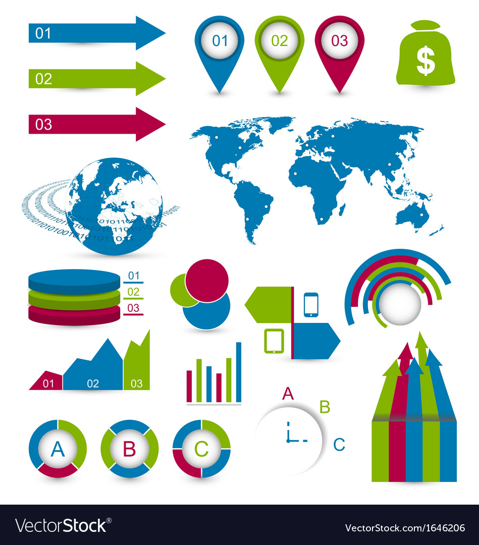 Set detail infographic elements vector | Price: 1 Credit (USD $1)