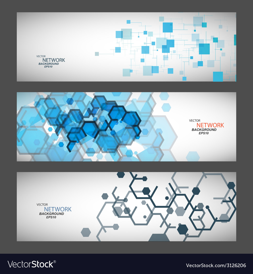 Three banner with abstract colored shapes vector   Price: 1 Credit (USD $1)