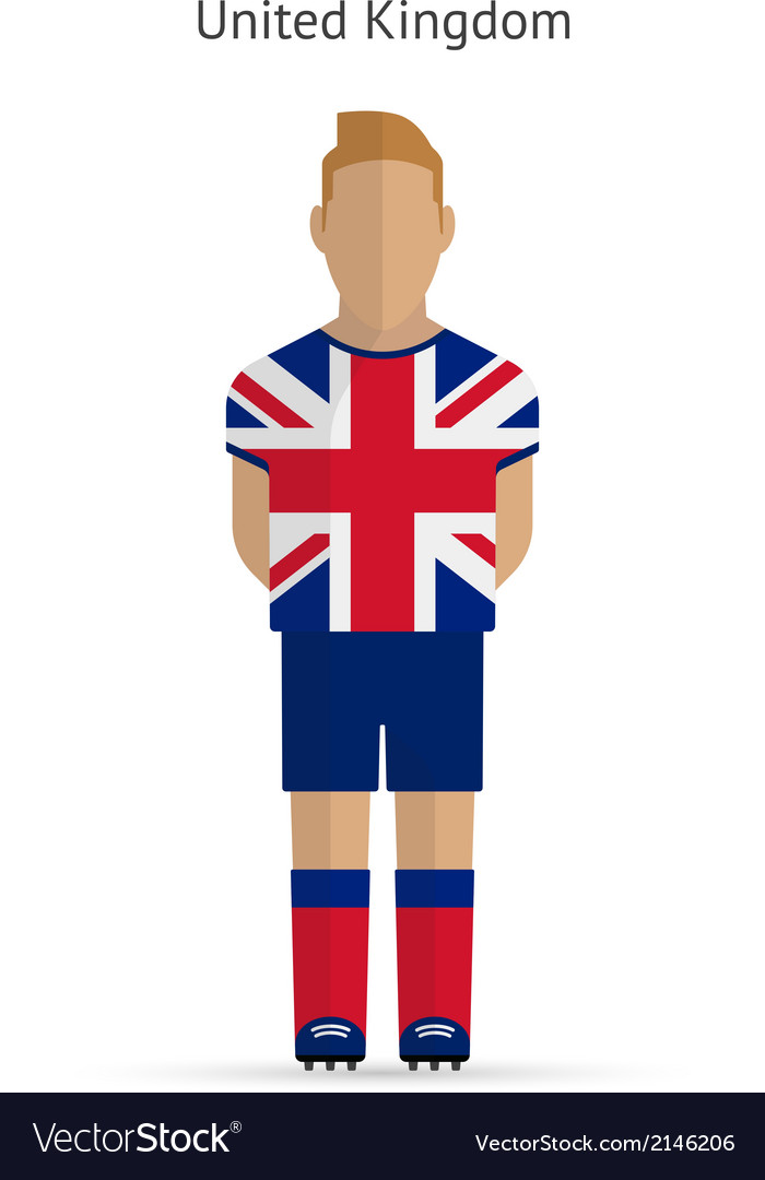 United kingdom football player soccer uniform vector | Price: 1 Credit (USD $1)