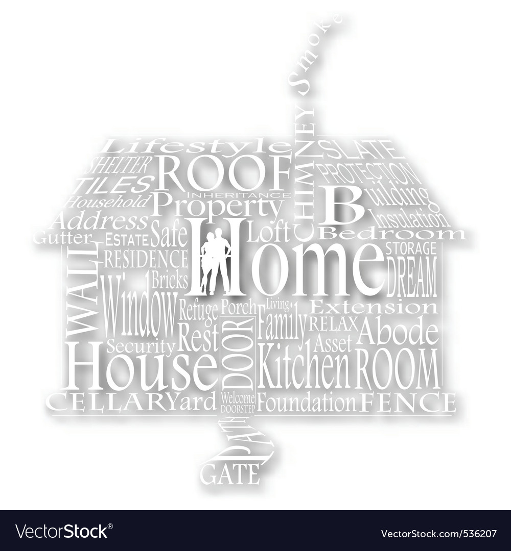 Cutout home words vector | Price: 1 Credit (USD $1)