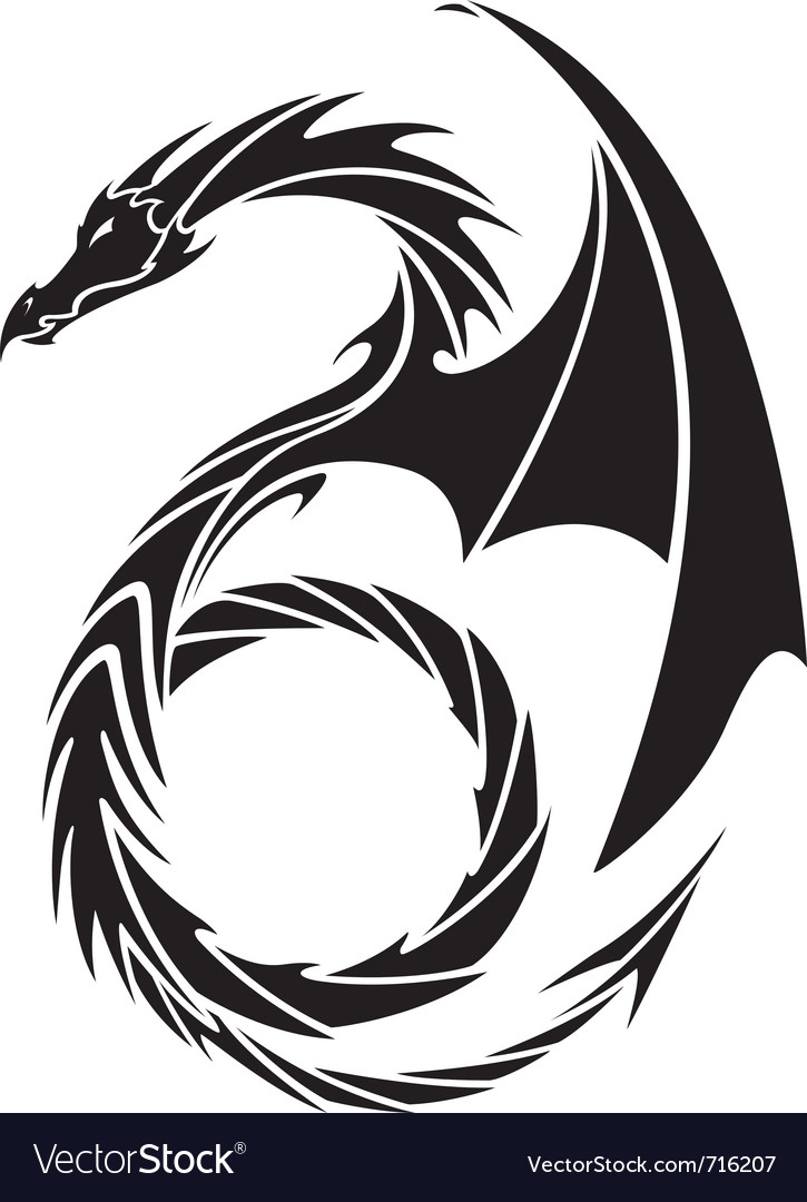 Dragon tattoo design vector | Price: 1 Credit (USD $1)