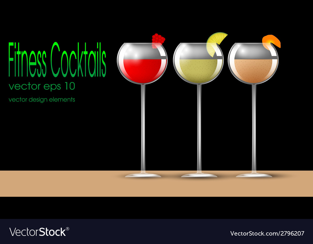 Fitness cocktails vector | Price: 1 Credit (USD $1)