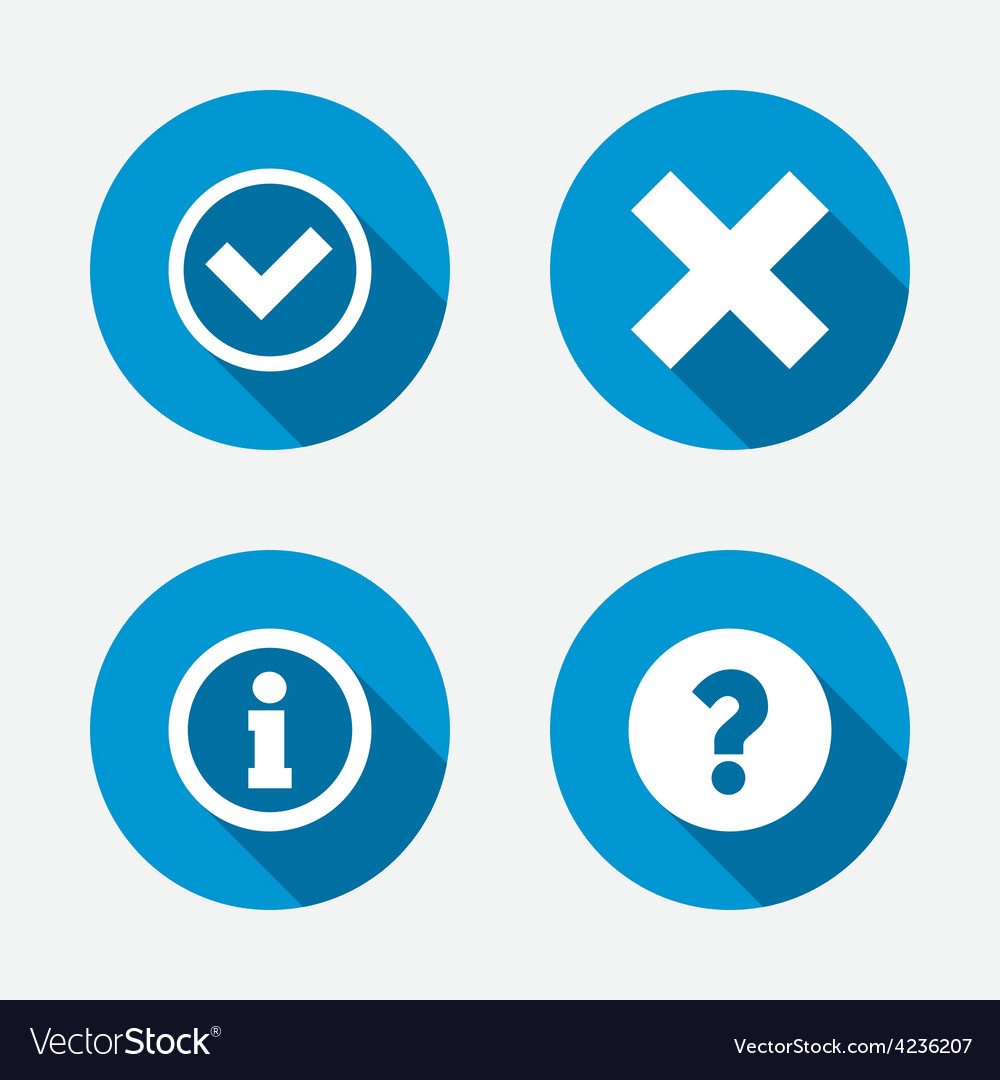 Information icons question faq symbol vector | Price: 1 Credit (USD $1)