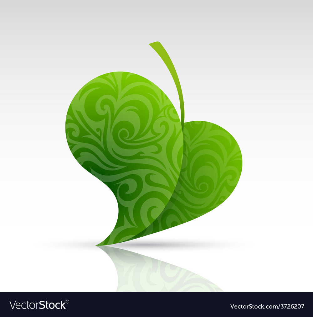 Leaf shape as design element vector | Price: 1 Credit (USD $1)