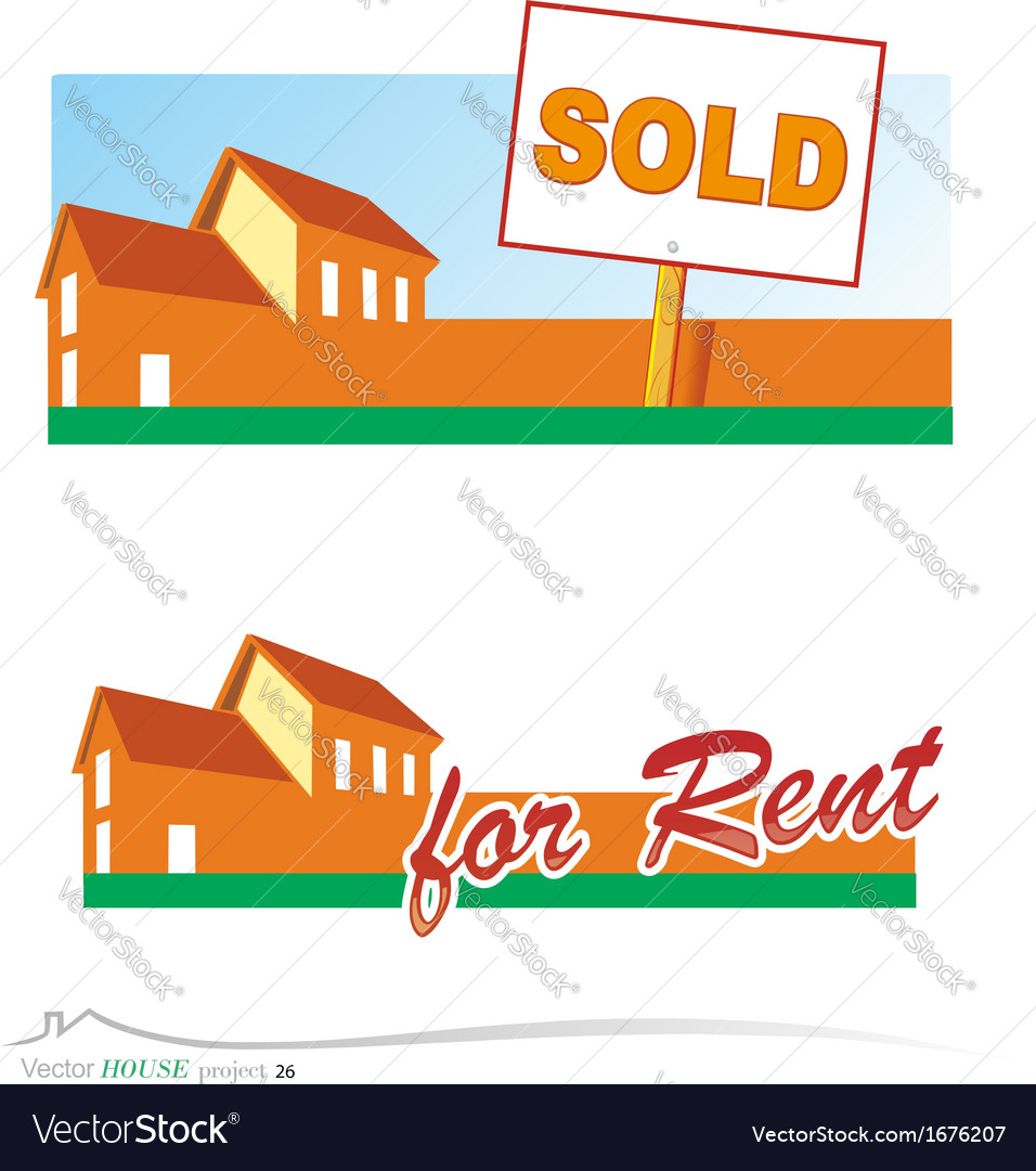 Real estate banners vector | Price: 1 Credit (USD $1)