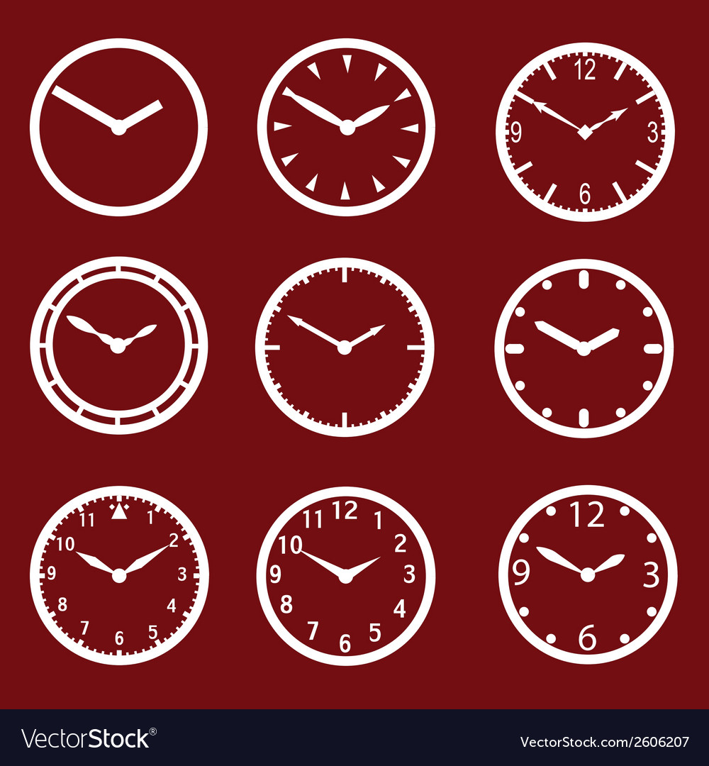 Red watch dials eps10 vector | Price: 1 Credit (USD $1)