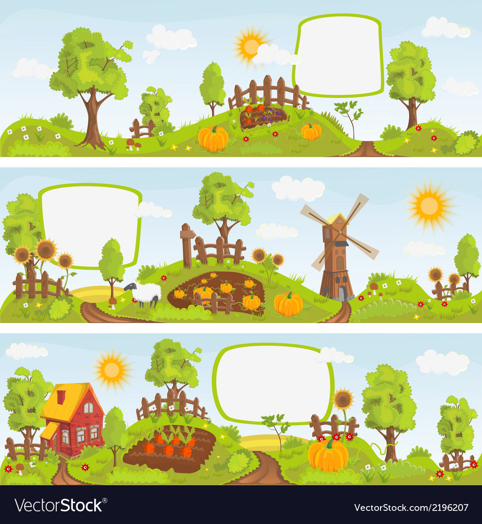 Rural landscapes vector