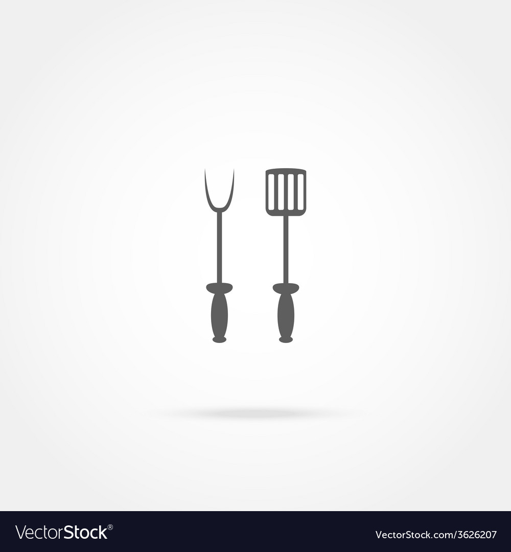 Spade and fork for grill icon vector | Price: 1 Credit (USD $1)
