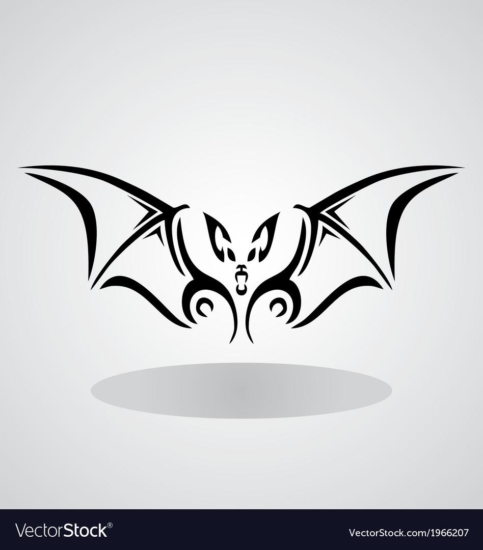 Tribal bat vector | Price: 1 Credit (USD $1)