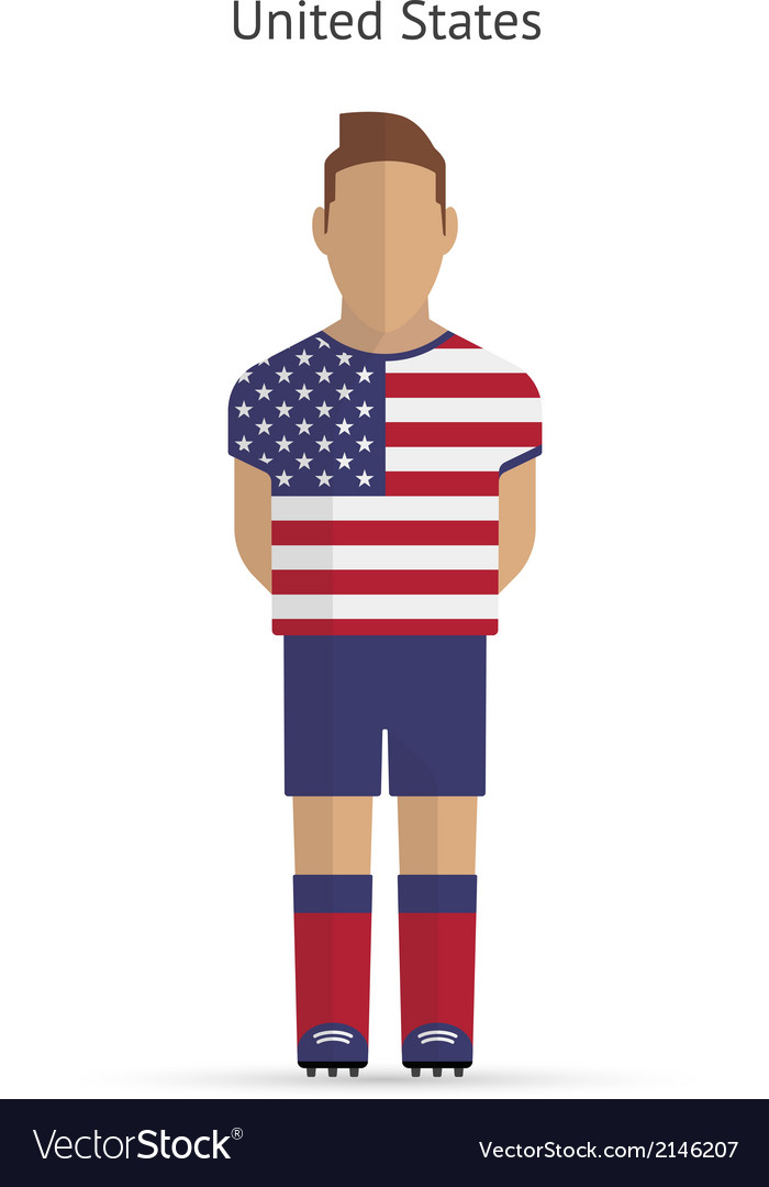 United states football player soccer uniform vector | Price: 1 Credit (USD $1)
