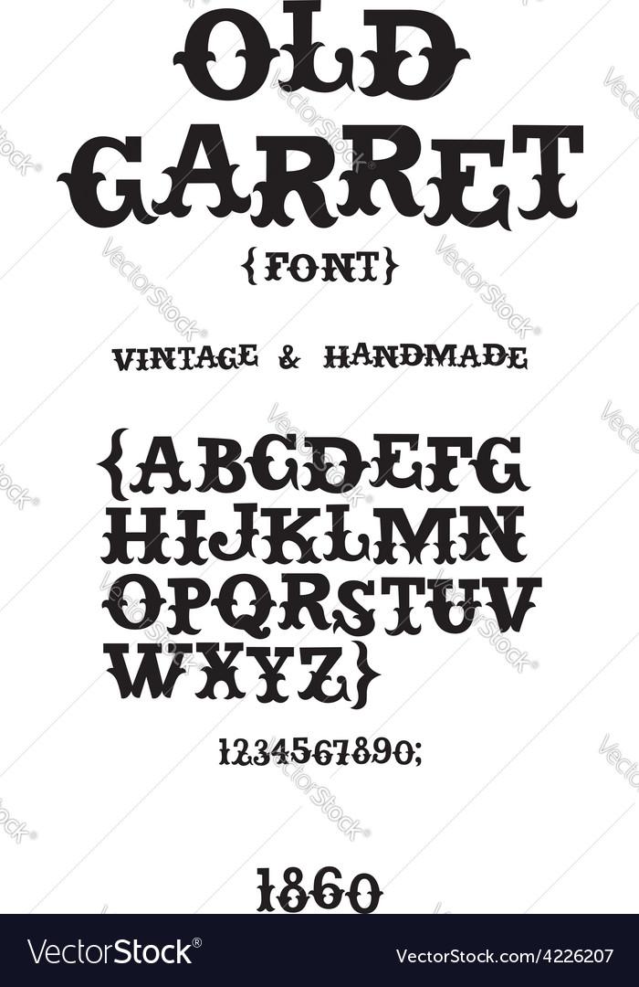 Vintage western font vector
