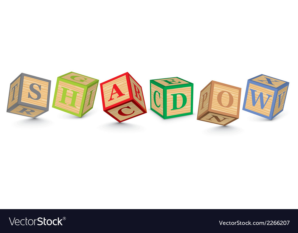 Word shadow written with alphabet blocks vector | Price: 1 Credit (USD $1)