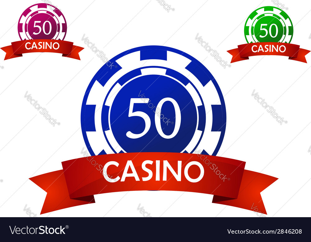Casino chip emblem vector | Price: 1 Credit (USD $1)