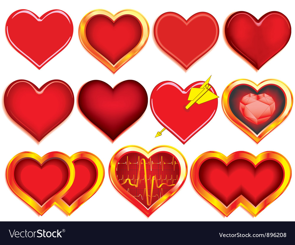Collection of hearts vector | Price: 1 Credit (USD $1)
