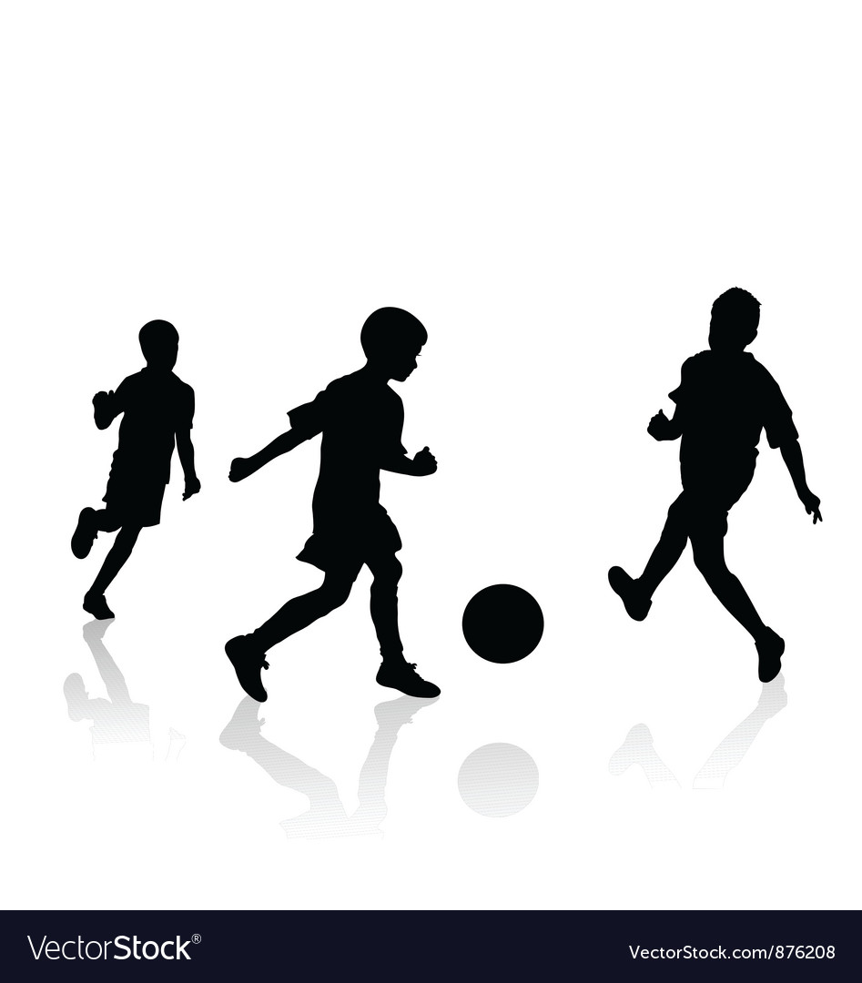 Little soccer players vector | Price: 1 Credit (USD $1)