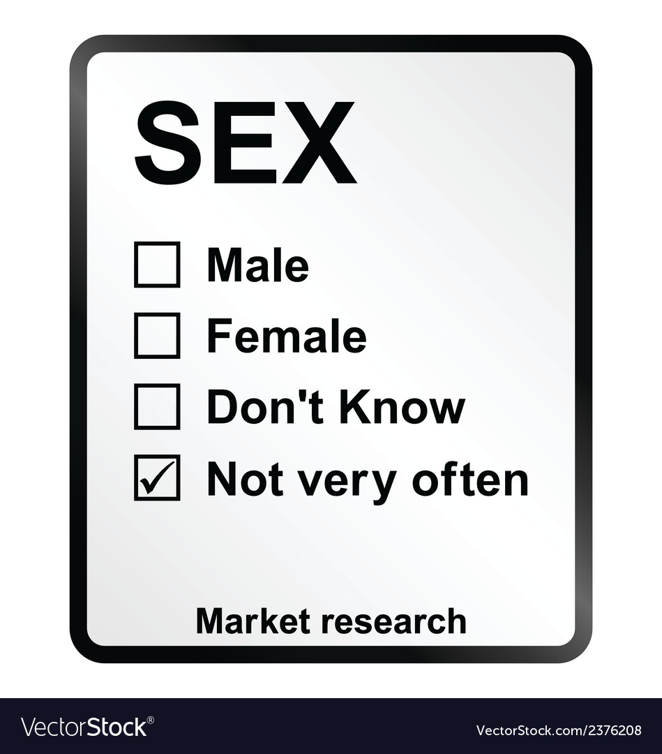 Market research sex sign vector | Price: 1 Credit (USD $1)