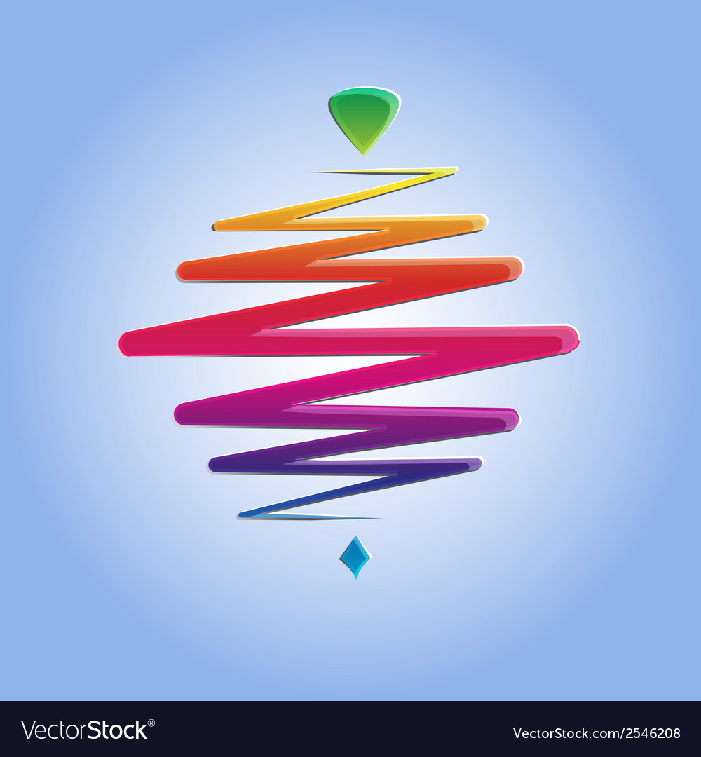 Modern color whirligig on an abstract background vector | Price: 1 Credit (USD $1)