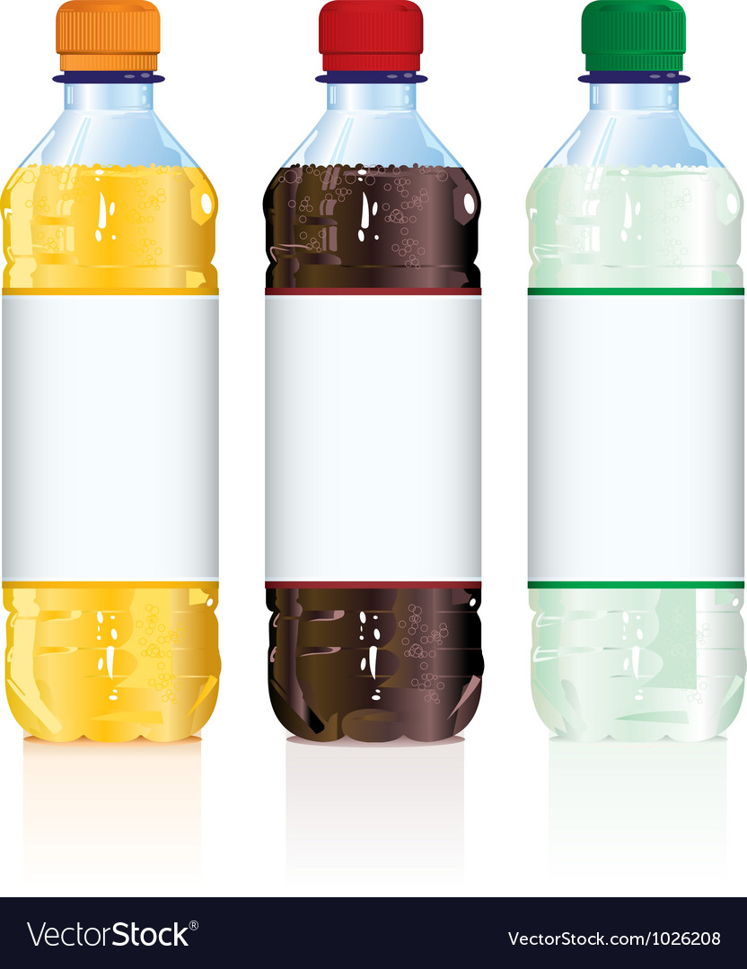 Soft drink bottles vector | Price: 1 Credit (USD $1)
