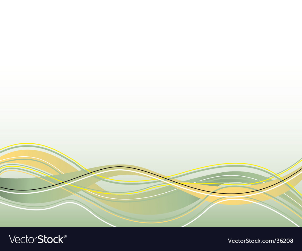 Spiritual wave yellow vector | Price: 1 Credit (USD $1)