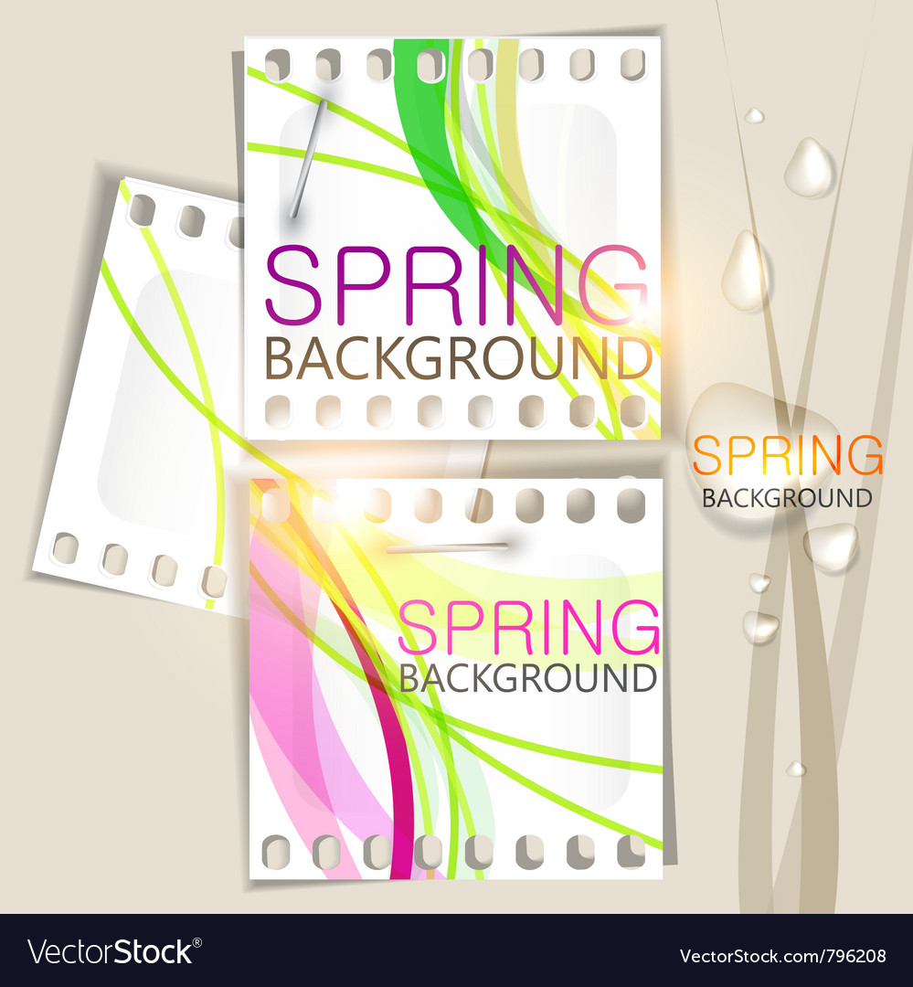 Spring background film vector | Price: 1 Credit (USD $1)