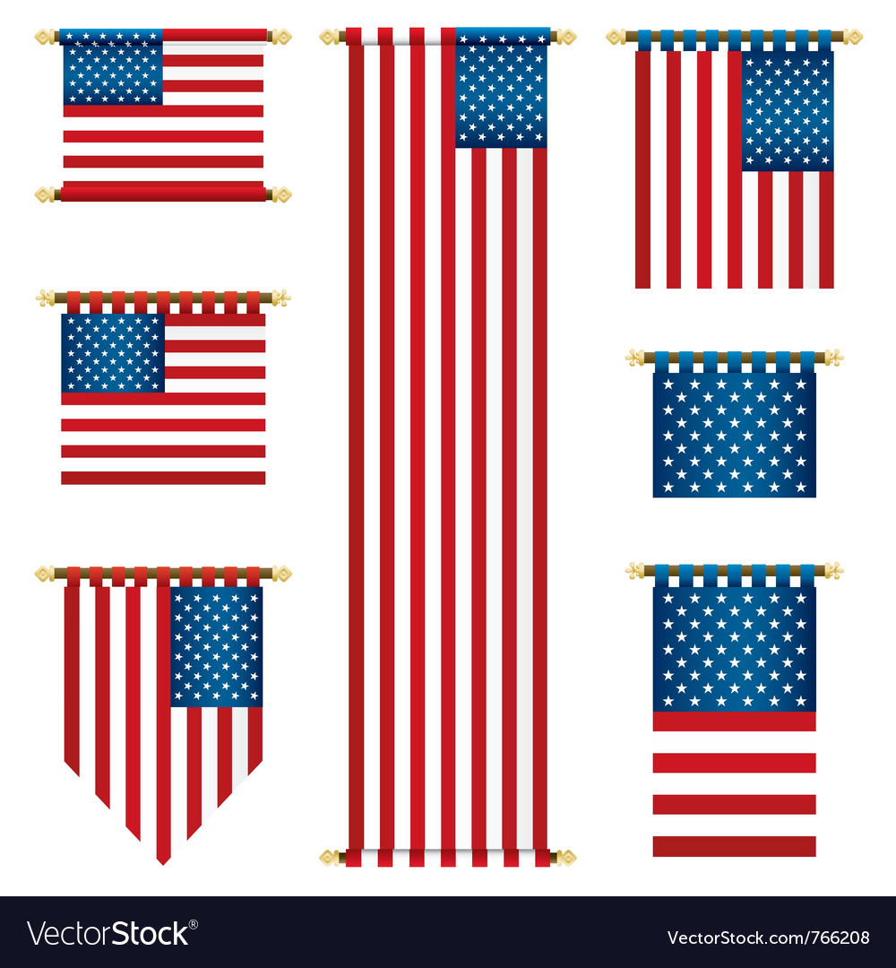 United states banners vector | Price: 3 Credit (USD $3)