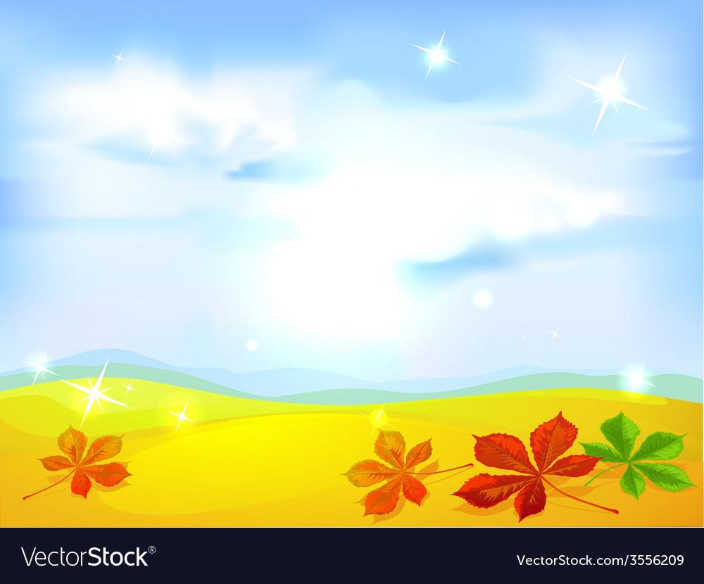 Autumn landscape background - vector | Price: 1 Credit (USD $1)
