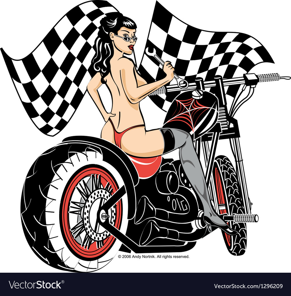Biker babe vector | Price: 1 Credit (USD $1)