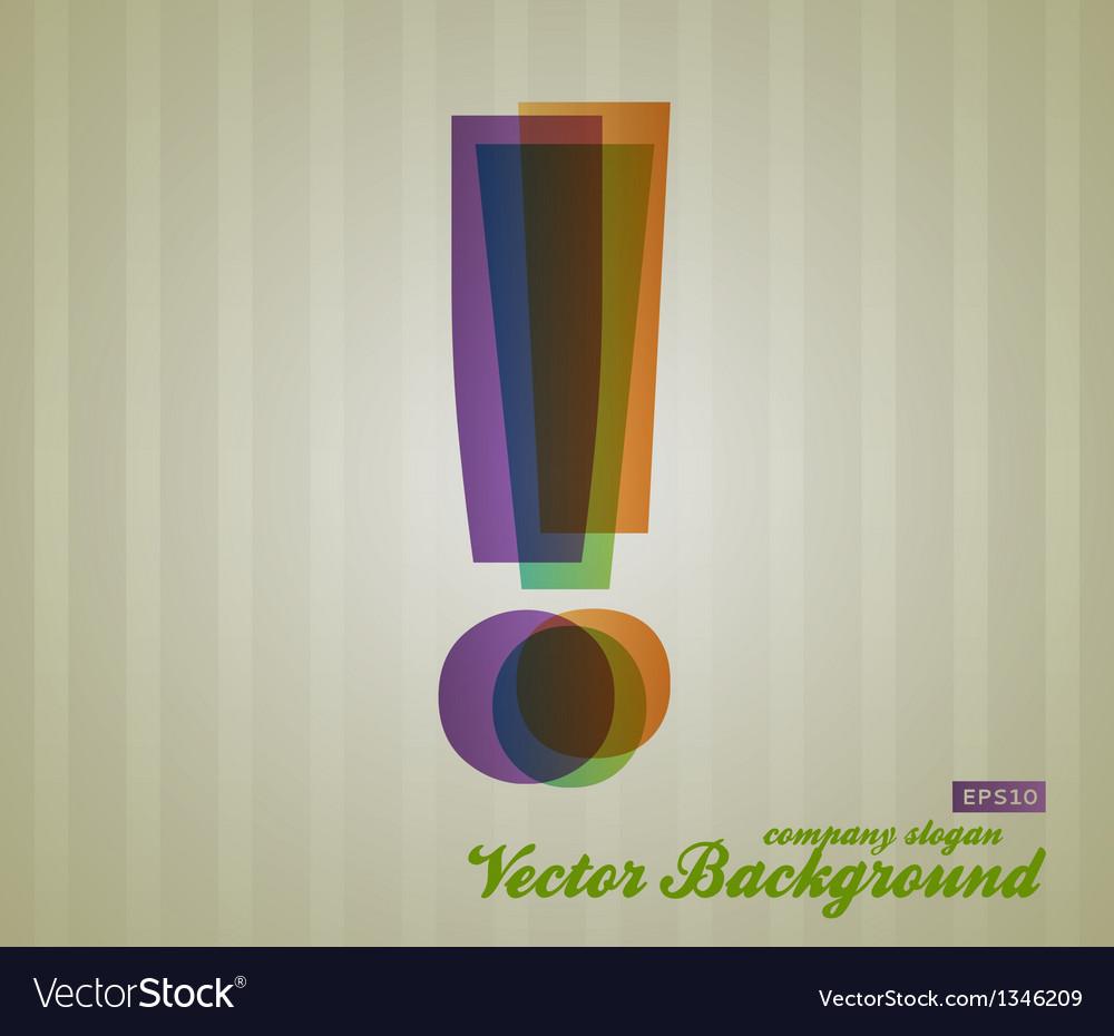 Color transparency symbol vector | Price: 1 Credit (USD $1)