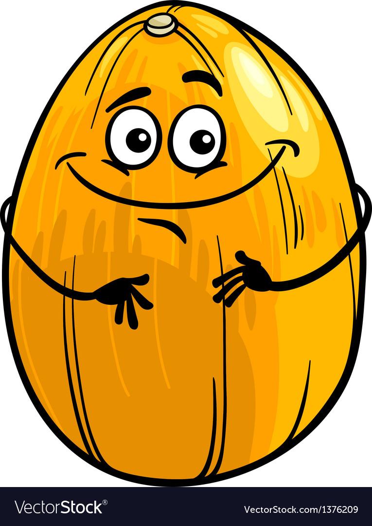 Funny melon fruit cartoon vector | Price: 1 Credit (USD $1)