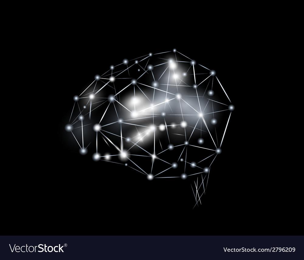 Futuristic image of the brain vector | Price: 1 Credit (USD $1)