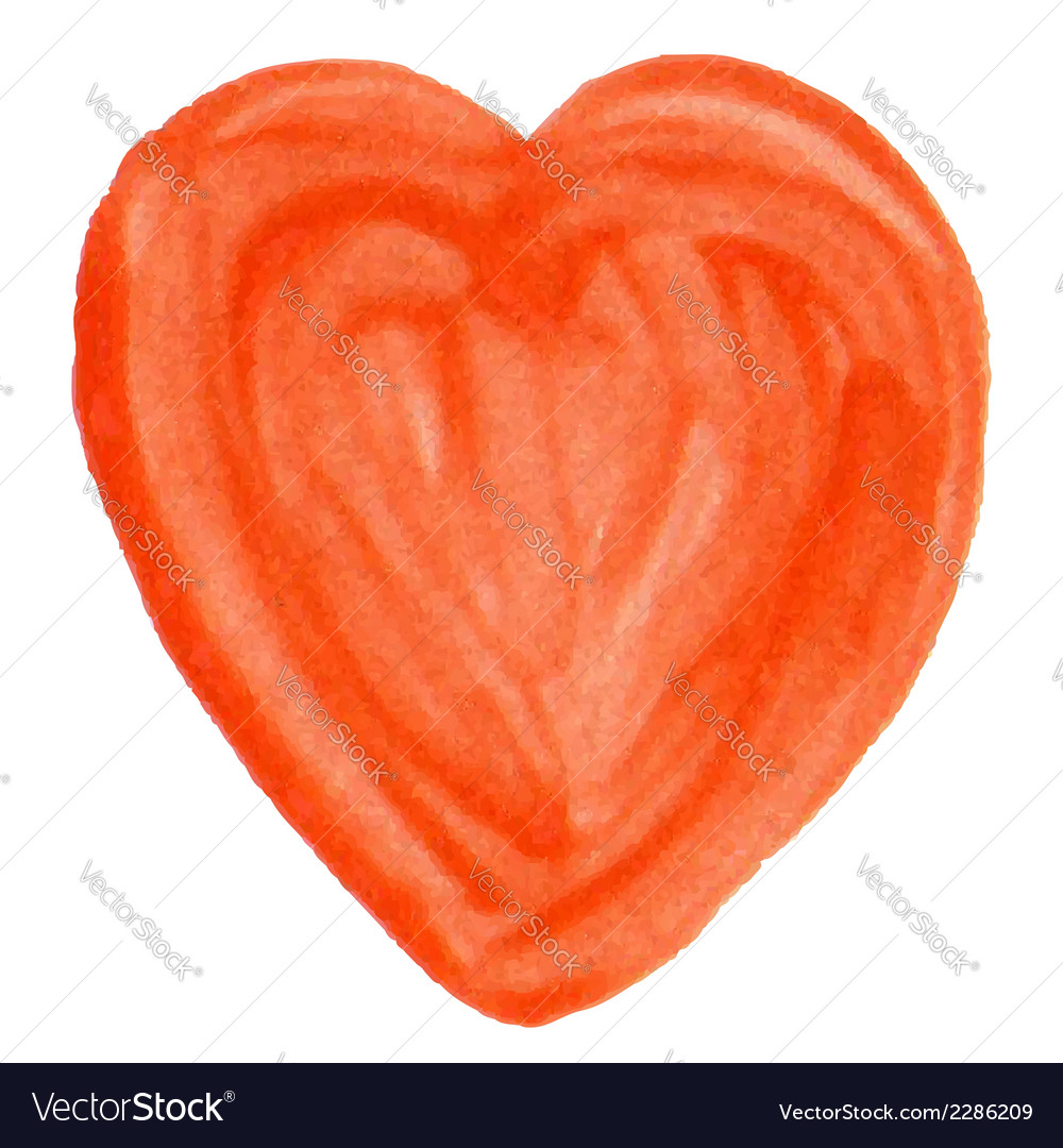 Hand-drawn varnish heart isolated on white vector | Price: 1 Credit (USD $1)