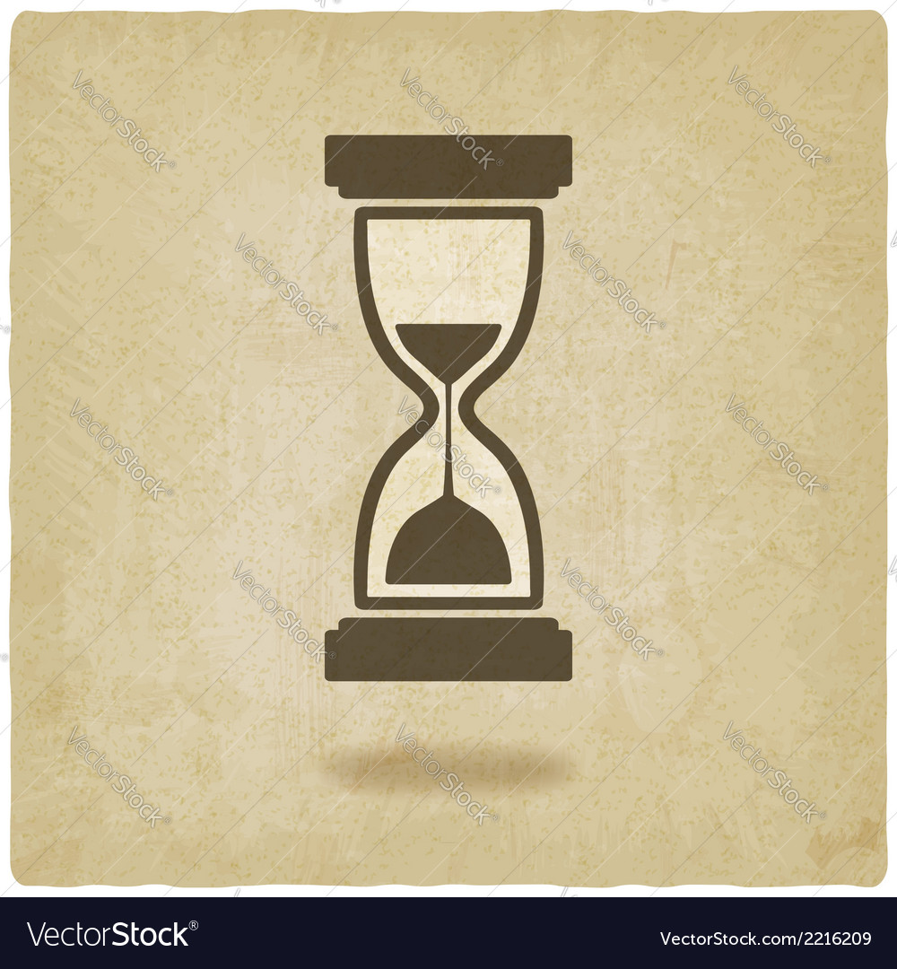 Hourglass old background vector | Price: 1 Credit (USD $1)