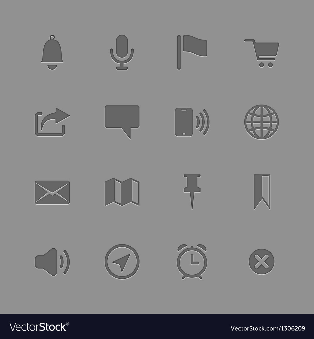 Icons collection for mobile applications vector | Price: 1 Credit (USD $1)