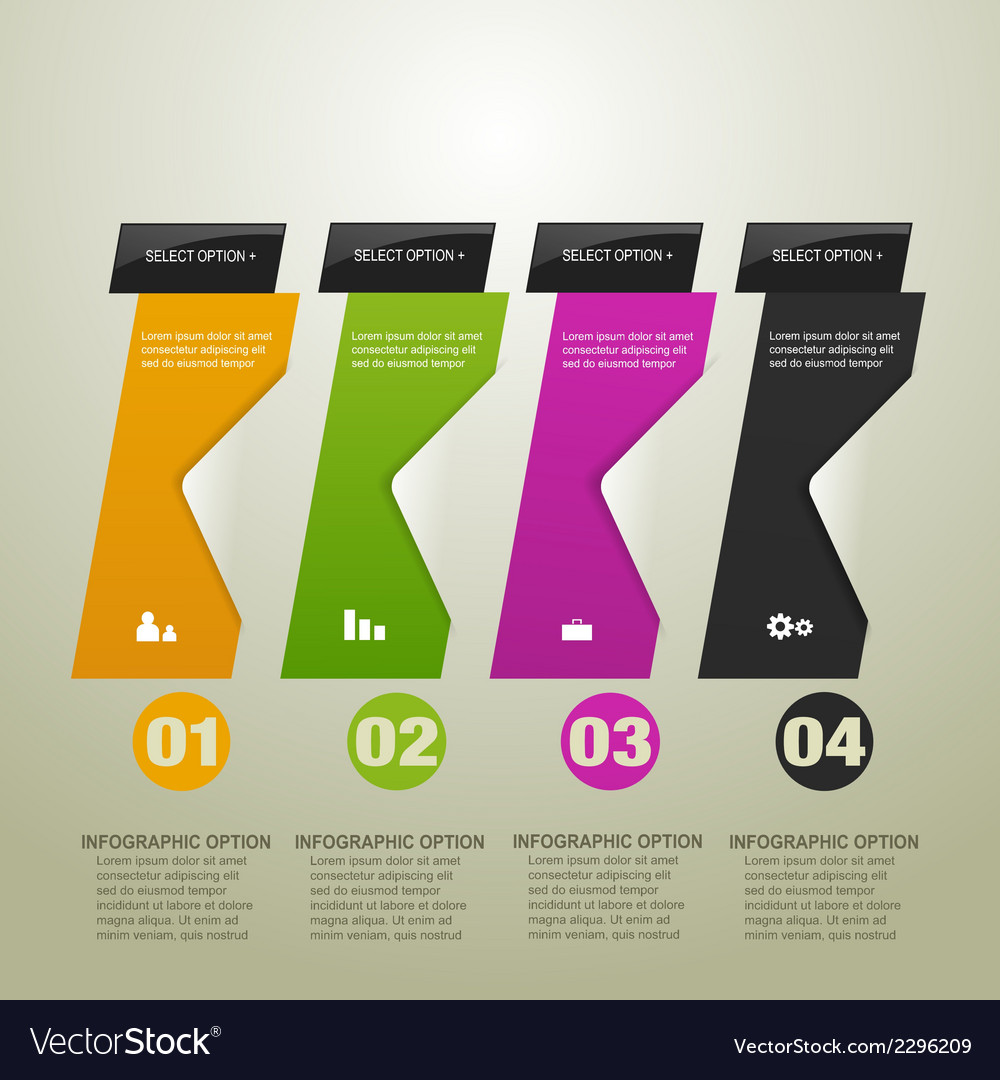 Infographic option banner vector | Price: 1 Credit (USD $1)