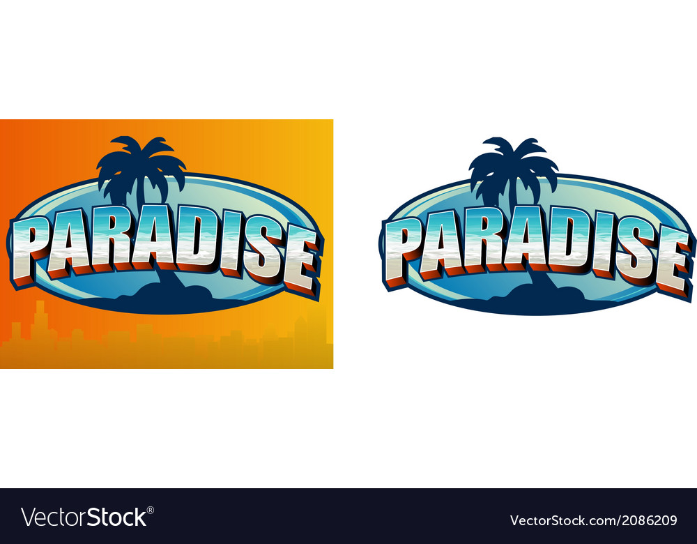 Paradise sign vector | Price: 1 Credit (USD $1)