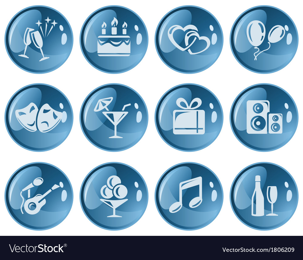 Party buttons vector | Price: 1 Credit (USD $1)