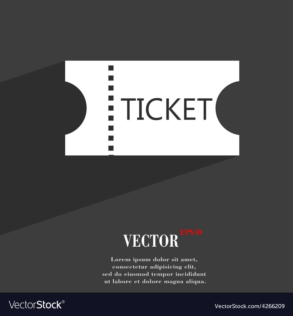 Ticket icon symbol flat modern web design with vector | Price: 1 Credit (USD $1)