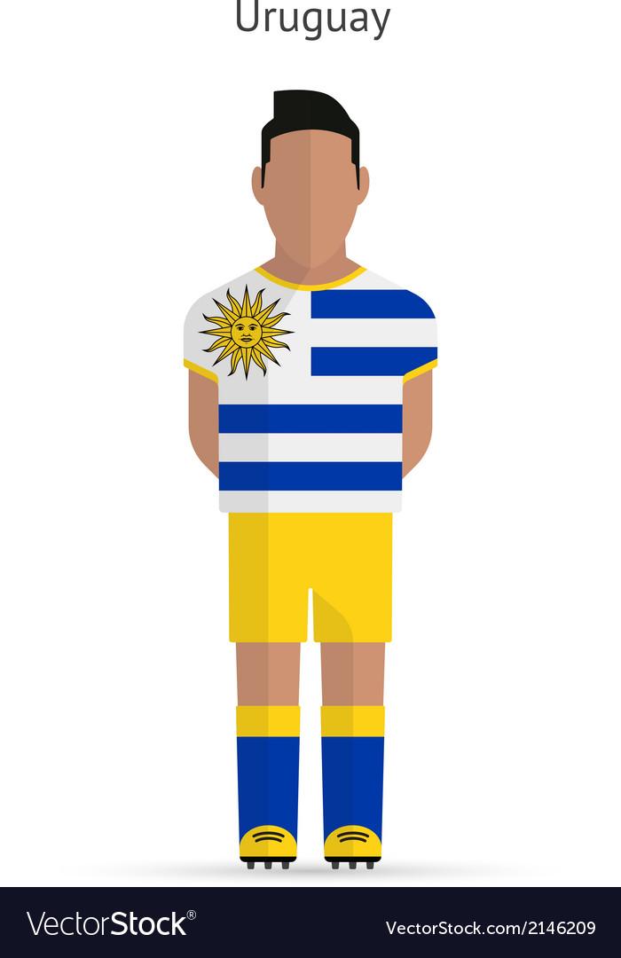 Uruguay football player soccer uniform vector | Price: 1 Credit (USD $1)