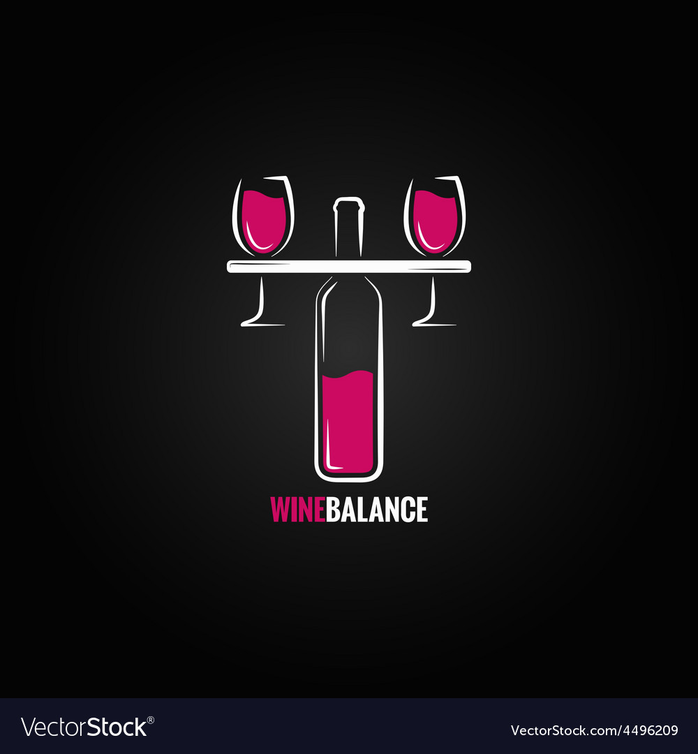 Wine red and white balance concept design vector | Price: 1 Credit (USD $1)