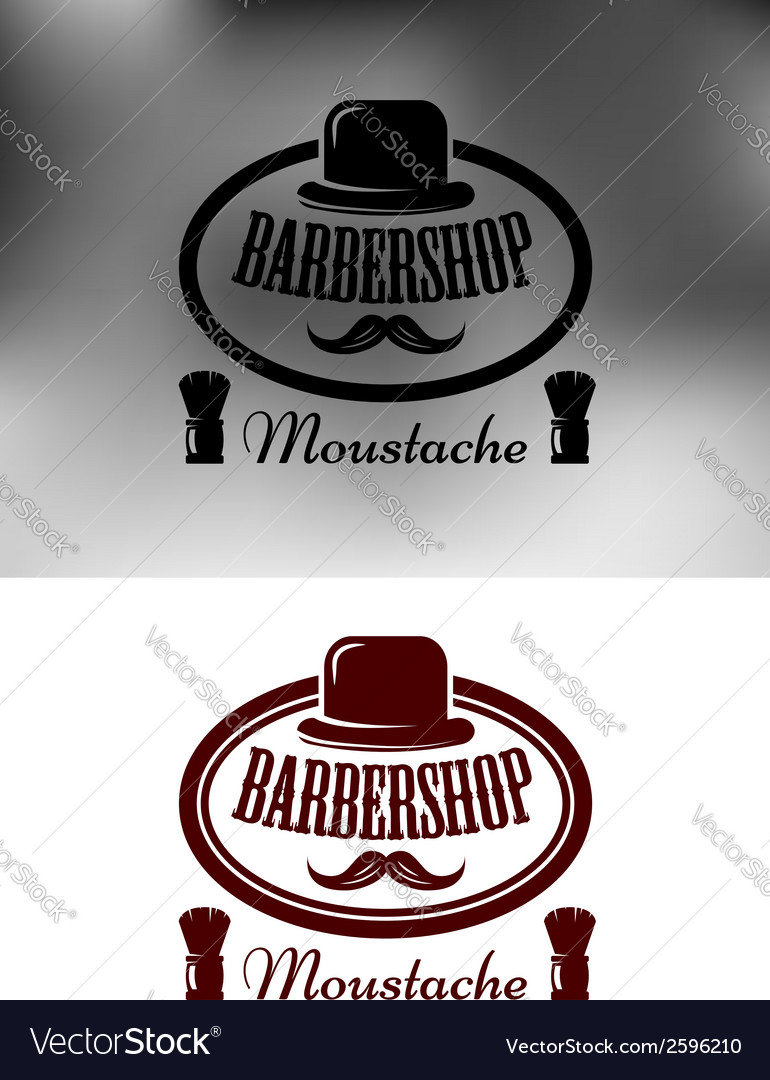 Classy barber shop icon emblem or label vector | Price: 1 Credit (USD $1)