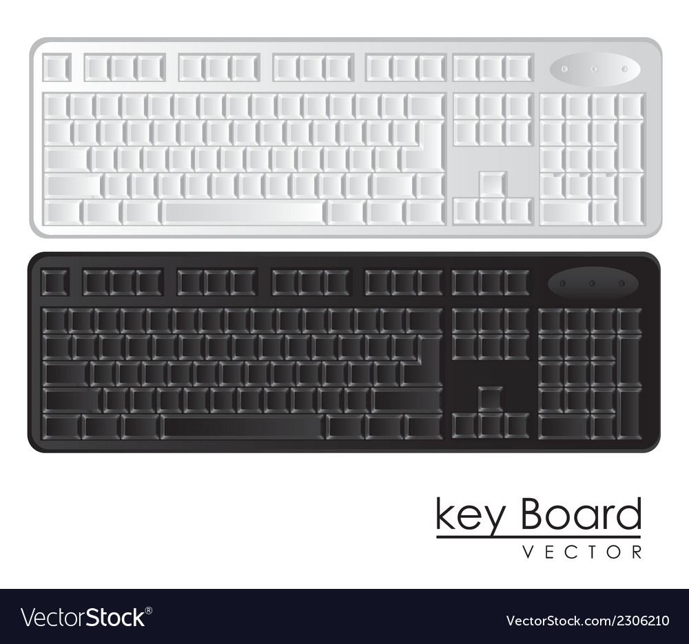 Computer keyboards black and white vector | Price: 1 Credit (USD $1)