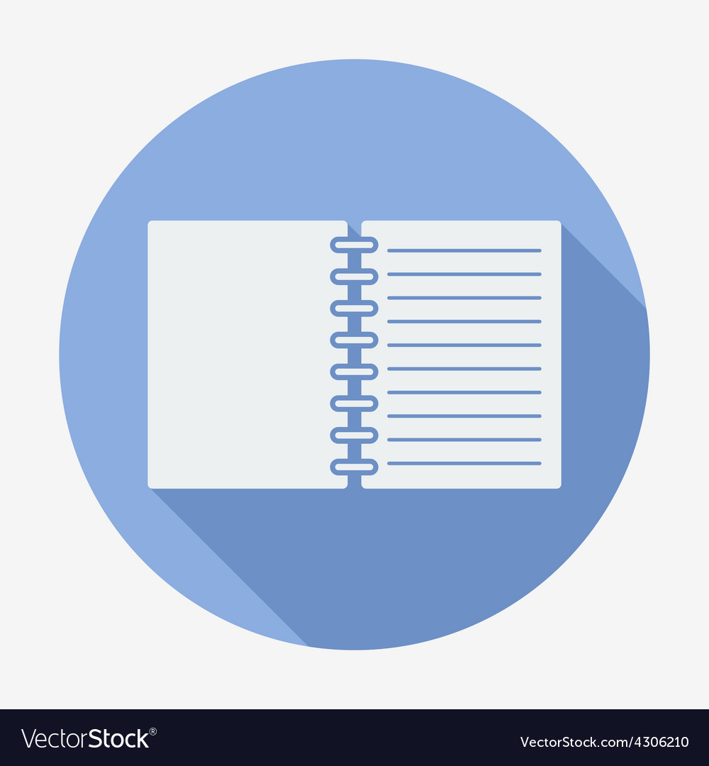 Flat style icon notebook vector | Price: 1 Credit (USD $1)