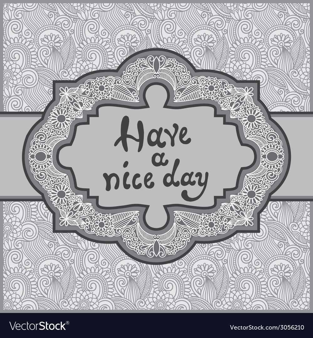 Grey oriental decorative template for greeting vector | Price: 1 Credit (USD $1)