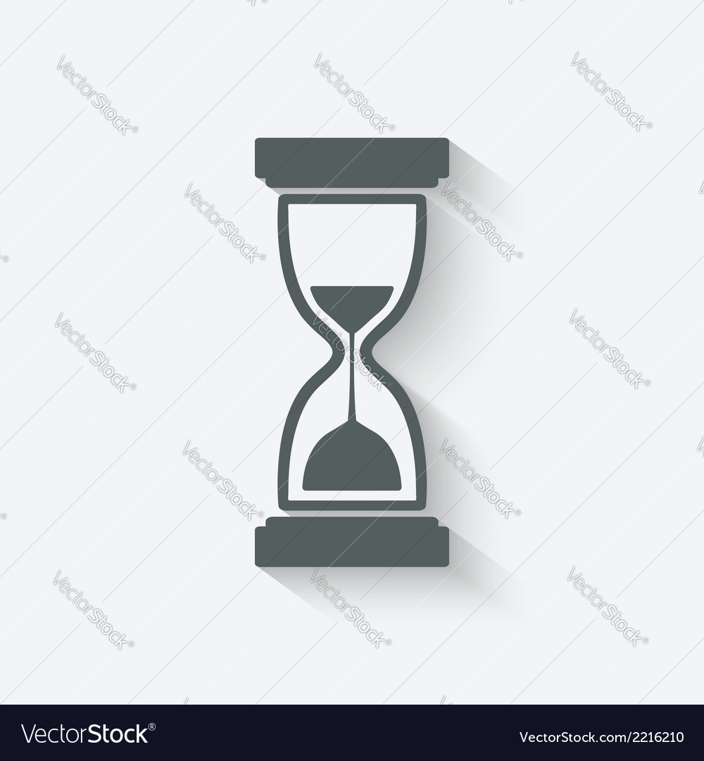 Hourglass symbol vector | Price: 1 Credit (USD $1)