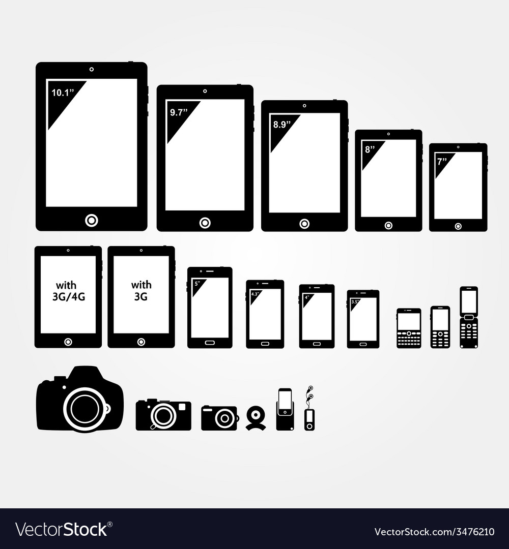 Mobile electronics vector | Price: 1 Credit (USD $1)