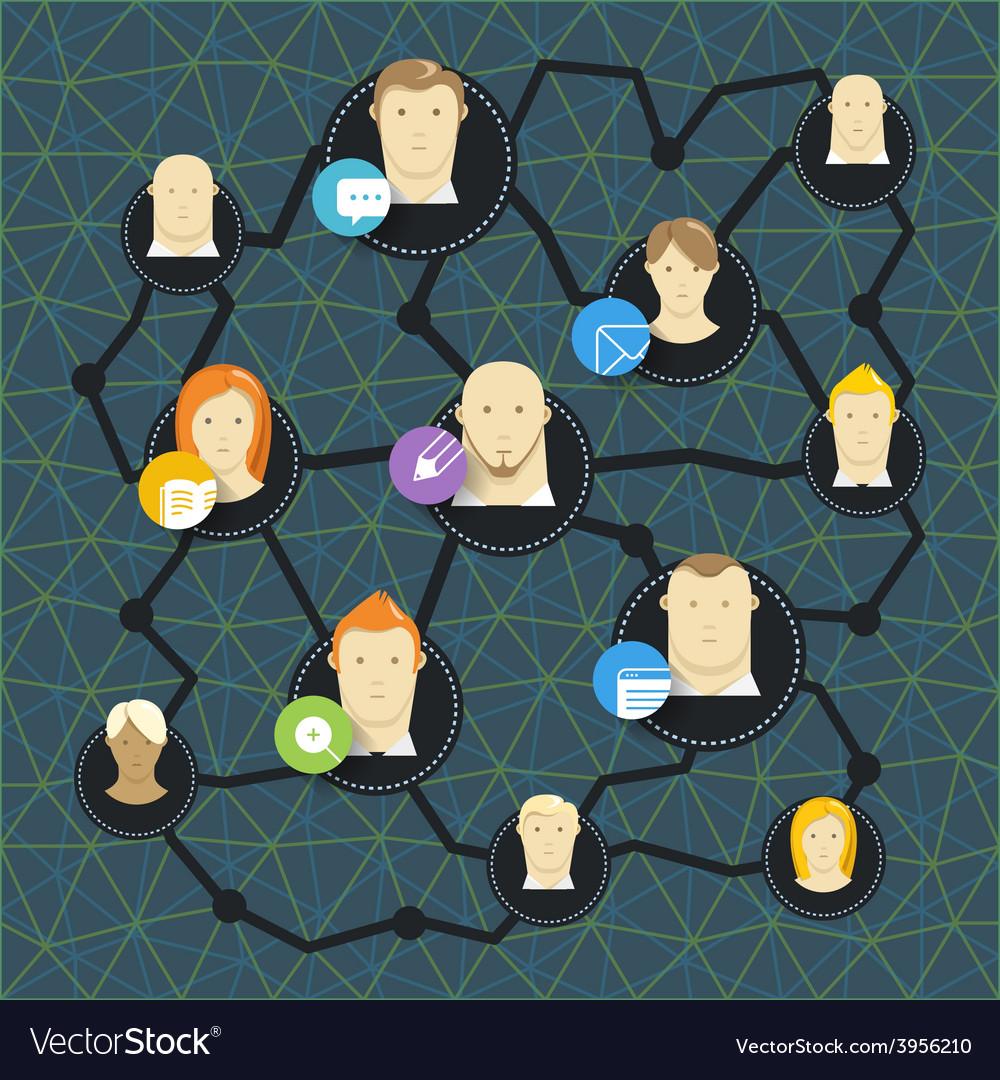 Modern social media network concept vector   Price: 1 Credit (USD $1)