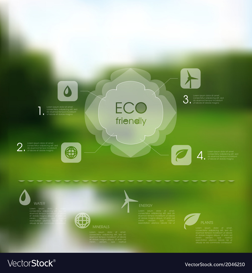 Natural template for eco website vector | Price: 1 Credit (USD $1)